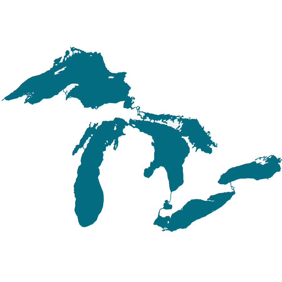 outline of great lakes